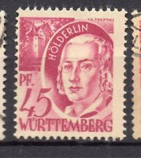 Wurttemberg 1948 Early Issue Fine Mint Hinged 45pf. NW-05579