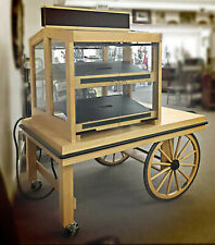 Market Pop-Up Cart~Bakery Display~Café Kiosk~Showcase Cabinet~Lighted Wagon
