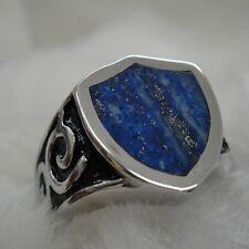 Route Signe lapis lazuli or avec pyrite ring pour Harley Davidson motor biker 32