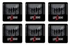 LEFT 4 DEAD COASTERS - 1/4 BAR & BEER SET OF 6