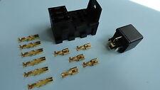 12 V 30/40A 5 Pin Relé con 3 incorporado Portafusibles y terminales