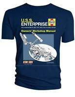 Star Trek U.S.S. Enterprise Haynes Owners Workshop Manual T Shirt OFFICIAL SMALL