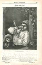 Boulanger Artisan Cornant son Pain Boulangerie d'Adriaen van Ostade GRAVURE 1885
