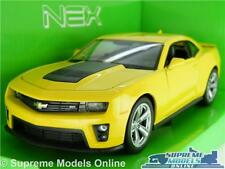 CHEVROLET CAMARO ZL1 MODEL CAR 1:24 SCALE YELLOW WELLY OPENING PARTS LARGE K8