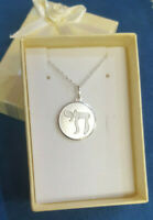 Vintage Sterling Silver Hebrew Jewish Chai Pendant Charm with Chain ^