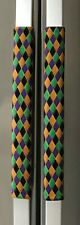Refrigerator Oven Door Padded Handle Covers Diamonds Print Set of Two