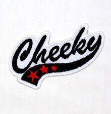 Cheeky FUNNY JOKE WORDS Rocker Punk Harley Motorcycle Biker Jacket Iron on Patch