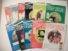 Lot of 10 DECORATING & CRAFT IDEAS 1974-Needlecrafts, painting, glass,beading et