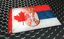 """Canada Serbia Dual Country Domed Decal SRBIJA Distressed Sticker 3D 3.25""""x 2"""""""