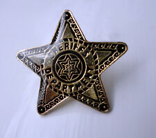 ZP114 Cowboy Rodeo Sheriffs Department - Country Western Line Dance Pin Badge