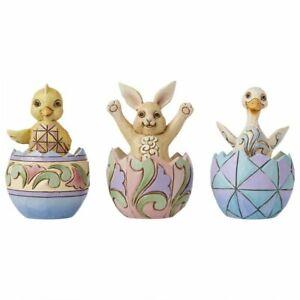 Jim Shore Heartwood Creek Mini Easter Eggs with Animals Figurine Set of 3