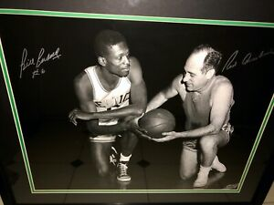 Bill Russell Red Auerbach Autographed Framed 16 x 20 Photo COA