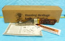 "NAHC HUNTING HERITAGE COLLECTORS GUT HOOK SKINNERS KNIFE FIXED BLADE 7.5""  K106"