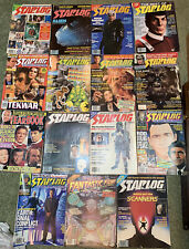 Lot Of 15 Starlog Star Trek / Star Wars, Labyrinth, 1979-1994 Sci-Fi Magazines