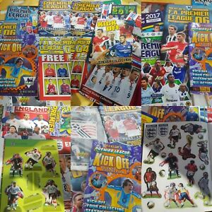 Bundle of Unused Merlin Topps Premier League Kick Off 98 Sticker Albums England
