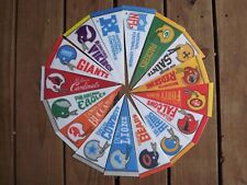 NFL Lot of 16 Vintage Circa 1960's 1970's 2 Bar Helmet Logo Football Pennants