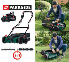 Parkside 1500W 2 in 1 Electric Garden Aerator / Scarifier Lawn Raker, 360mm, 50L