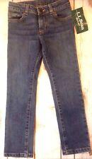 LL Bean Girls Jeans Size 5-6 Adjustable Waist NWT
