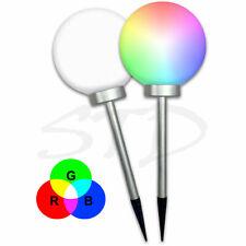 Weiß /RGB LED Solar Leuchtkugel Solar Kugel Leuchte Licht Solar Erdspieß Ø 20 cm