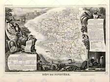 Carte ancienne france levasseur finistere ministère poster art print BB12031B