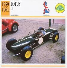 1959-1961 LOTUS 18 Racing Classic Car Photo/Info Maxi Card