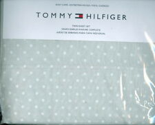 Tommy Hilfiger ~ Polka Dot 3 Pc Twin Sheet Set ~ Gray With White Polka Dots