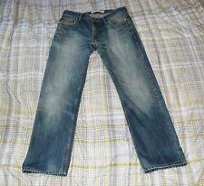 Original Levi's 505 Azul recta Jeans Denim, W34 L31 por favor lea la información de tamaño!