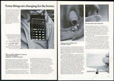 1972 HP-35 calculator 'pocket computer' photo Hewlett-Packard vintage print ad