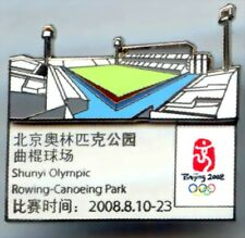 """2008 Beijing Olympic """"ROWING - CANOEING PARK""""  Pin"""