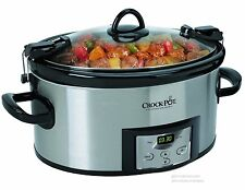 Slow Cooker Crock Pot Digital Programmable Removable Cook & Carry Stoneware 6 Qt