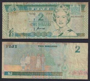 Fiji 2 dollars 1996 BB-/VF-  C-08