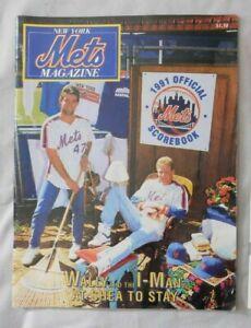 1991 New York Mets Vs Chicago Cubs  Program 8/4/91