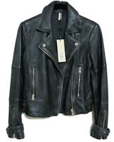 TOPSHOP REAL LEATHER MOTORCYCLE JACKET/ NWT/ PETITE SIZE US 2/ RETAILS FOR $320