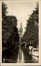 Amsterdam Niederlande Nederland Holland AK ~1930 Groenburgwal Kanal Turm Boote