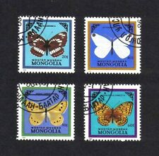 Mongolia 1986 Butterflies short set of 4 values used