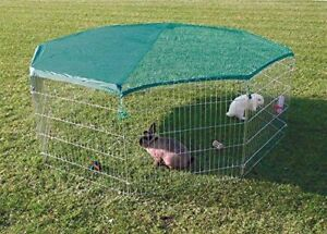 EXTRA Large 8 Panel, Dog Puppy Rabbit Cage Run Play Pen Guinea Enclosure