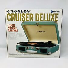 New listing Crosley Cruiser Deluxe 3 Speed Portable Turntable Record Player Turquoise