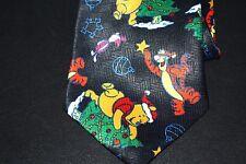 Winnie the Pooh Christmas Mens Tie Tigger Decorating the Christmas Tree -Zz