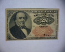 1874 25 Cent Fractional Currency United States Paper Money Note Fifth Issue A/U
