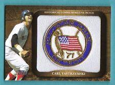 2009 Topps Historical Commemmorative Patch #34 1971 All Star Carl Yastrzemski