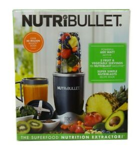 NutriBullet NBR-0801 24 oz 600W Single Serve Blender 8 Piece Set