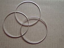 20 - CLOSED JUMP RINGS 40mm SILVER PLATED  SUPERB QUALITY