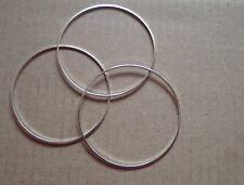1000-closed jump rings 40mm plaqué argent superbe qualité