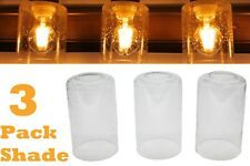 Lot of 3 Glass Shade Seeded Clear Bubble for Vanity Light Fixture Upgrade