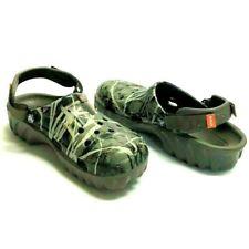 Crocs Mens 9 Womens 11 Duet Max Camo Clogs Shoes Green Rubber Slip On Gardening