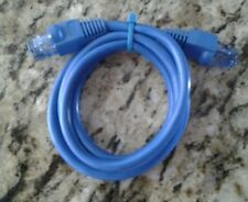 1 Booted 3 Foot Long Ethernet Blue CAT 5 Patch Cable Allen Tel Products
