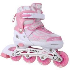 Women Men Inline Skate Rollerblade Roller Blades Boots Adjustable Flash Wheel