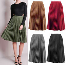 1eb10b38093 Faux Leather Pleated Skirts for Women