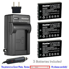 Kastar Battery Travel Charger for Kodak KLIC-5001 & Kodak EasyShare Z760 Zoom