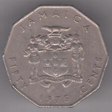 Giamaica 50 CENTESIMI 1975 moneta di rame-nichel-Marcus Garvey